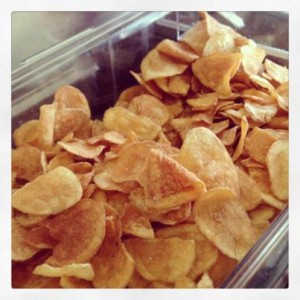 Homemade potato chips from Sweet Butter!