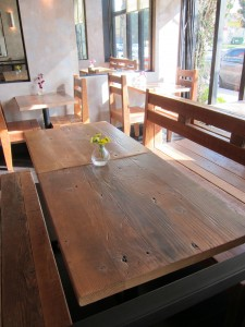 Wood rustic tables seat 50.