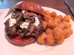 "Farm on the Mountain Burger is a ""chef's favorite."" See n here with Tater Tots."