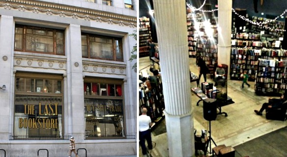 The Last Bookstore, which inhabits a former bank building,  carries 200,000 new and used books.