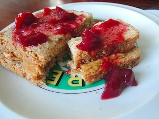 """theactorsdiet.com suggests using Cherry-Beet Fruigees as a replacement for jelly in your next PB&J"