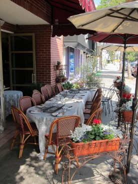 Make a reservation at Nesmon Cafe for a tablecloth decorated table and a free dessert for mom — and check out the French home imports in the quaint gift boutique.
