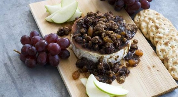 Cedar-Planked Pecan, Bourbon and Brown Sugar Glazed Brie