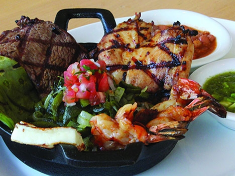 Surf and Turf with a Mexican twist is one of the featured Dine LA dishes at Loteria Grill.