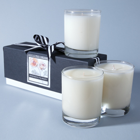 Three candle gift set.